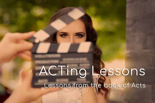 ACTing Lessons on Hope Springs Community Church.  A non-denominational church serving Severna Park, MD.