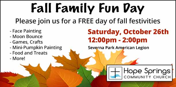 Fall Family Fun Day! Hope Springs Community Church